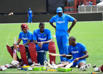 The West Indies team during a training session at Central Broward Stadium in Lauderhill, Florida, United States of America. Photo by WICB Media/Randy Brooks of Brooks Latouche Photography.