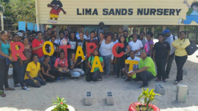 The Rotaract Club of Georgetown Central, in collaboration with the Rotary Club of Georgetown Central and volunteers from the Rotaract Club of Georgetown, conducted its Operation B.O.O.S.T. project in Lima Sands, Essequibo Coast.