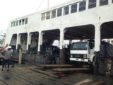 A truck disembarking the MV Malali