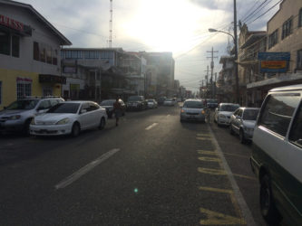 Vehicles are forced to illegally double-park on Robb Street because of the lack of space.