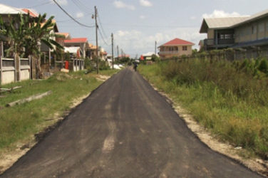 The recently rehabilitated Grove access road (GINA photo)