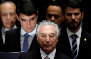 Brazil's new President Michel Temer attends the presidential inauguration ceremony after Brazil's Senate removed President Dilma Rousseff in Brasilia, Brazil, August 31, 2016. REUTERS/Ueslei Marcelino