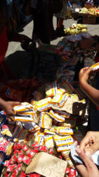 A vendor at the Stabroek Bazaar sells Ramen, which expired in May, at 3 for $100.