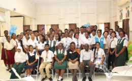The batch of work-study students with GRA officials (GRA photo)
