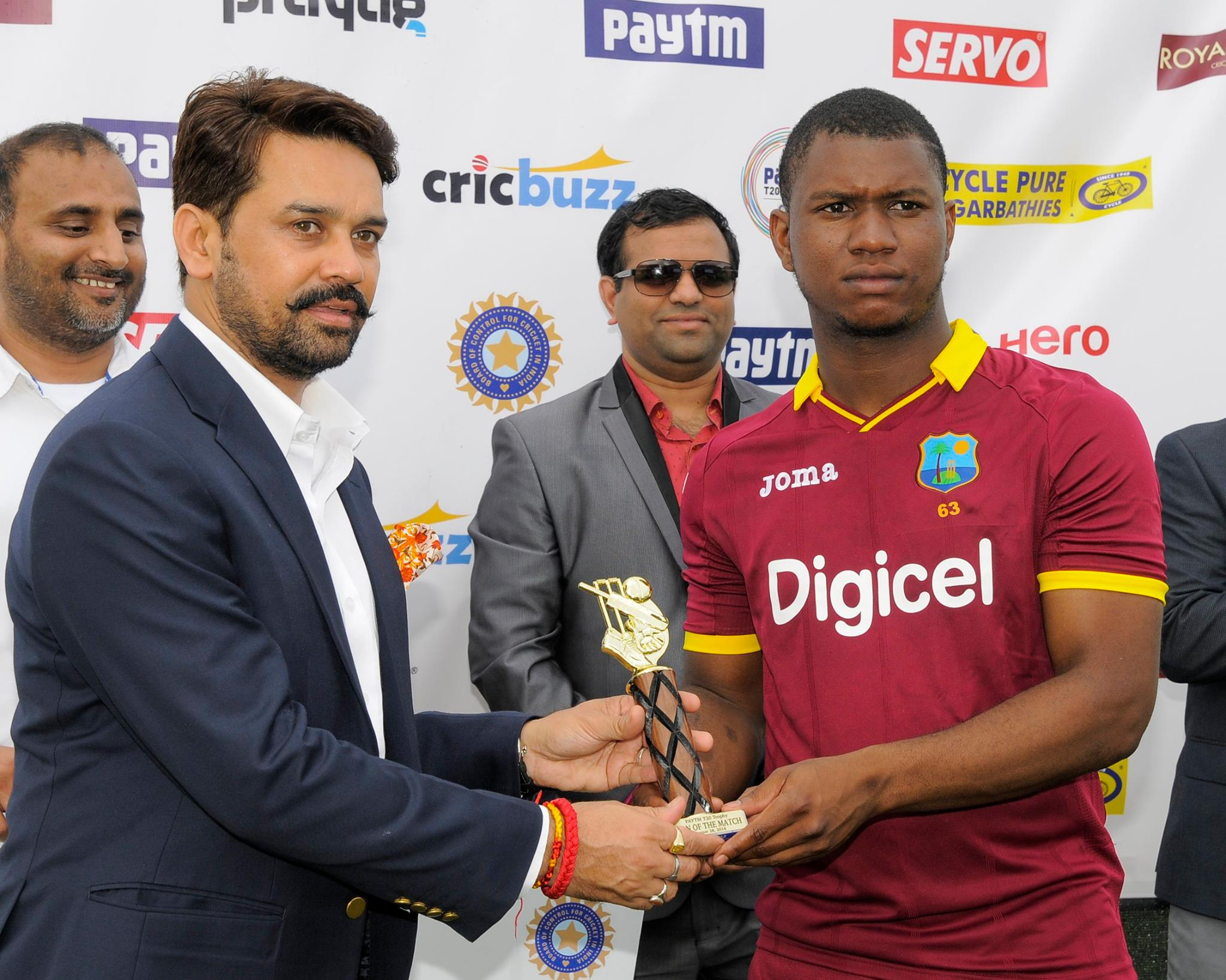 Windies Cricket Page Liked · 4 hrs  ·    Evin Lewis today's Man of the Match in the 1st T20 (Windies cricket photo)