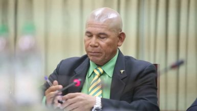 Minister of Public Health George Norton apologises to the National Assembly