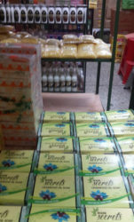 Waini Secrets soap on display in downtown Port-of-Spain