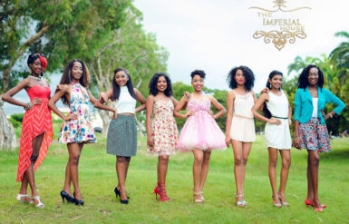 The eight Miss Guyana Talented Teen contestants
