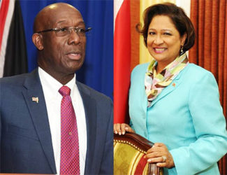 Prime Minister Dr. Keith Rowley and Opposition Leader Kamla Persad-Bissessar SC