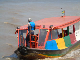 One of the water taxis in operation