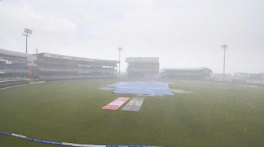 Queen's Park Oval during the abandoned fourth Test between West Indies and India last month.