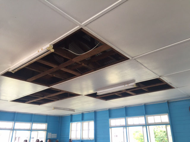 The Ceiling At Springlands Magistrate S Court From Where A Stench Has Been Emanating