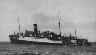 SS Athenia sinking