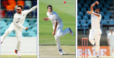 Despite banking on reverse swing New Zealand will fight fire with fire after naming three spinners Mark Craig, left, Mitchell Santner and Ish Sodhi, right, in their touring party.