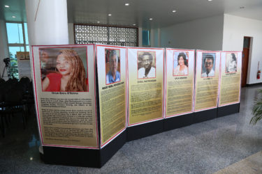 Posters of a few of the women who are being honoured in the exhibition. .