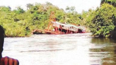 The sunken dredge