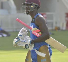 Impressive all-rounder Rovman Powell … could be handed his first game for West Indies.