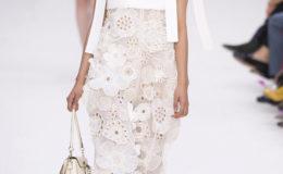 A model wears Chloe at Paris Fashion Week