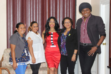 From left: Abigail Buckley, Vanda Allicock, Sonia Noel, Minister Valerie Garrido-Lowe and Richard Young.