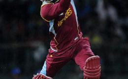 West Indies top-order batsman Marlon Samuels … top-scored with 46. (file photo)