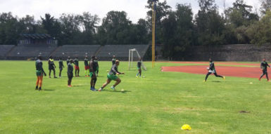 Guyana's national rugby team at practice ahead of today's RAN final against Mexico in mexico City.