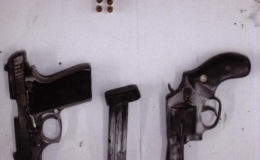 The firearms and ammunition that were found