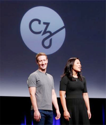 Pricilla Chan (R) and her husband Mark Zuckerberg announce the Chan Zuckerberg Initiative to 'cure, prevent or manage all disease' by the end of the century during a news conference at UCSF Mission Bay in San Francisco, California, U.S. September 21, 2016. REUTERS/Beck Diefenbach