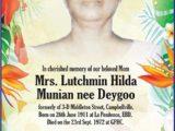 Lutchmin Munian nee Deygoo