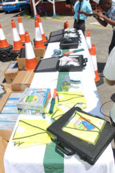 The equipment that was handed over by the Traffic Department to various policing divisions