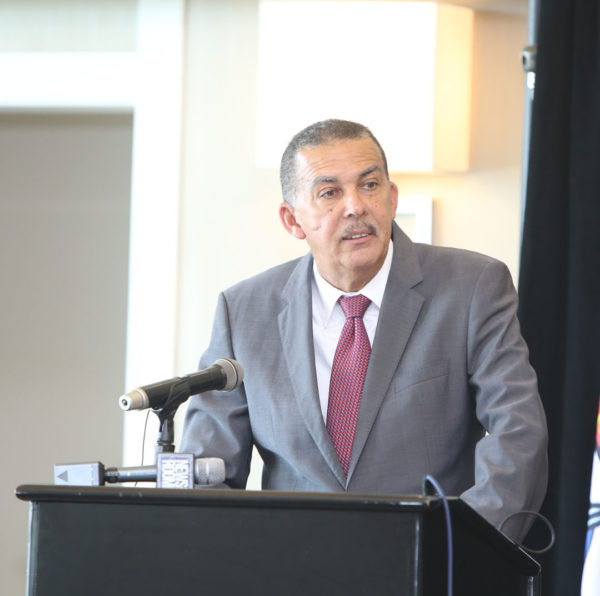 Trinidad and Tobago President Anthony Carmona addressing the conference yesterday.