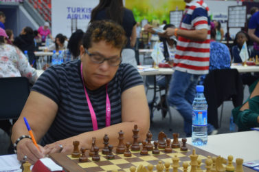 Guyanese Maria Verona-Thomas has become our first Woman FIDE Master in chess following her qualification for the coveted title at the 42nd Chess Olympiad in Baku, Azerbaijan. The column wishes to congratulate Maria on her excellent performance.