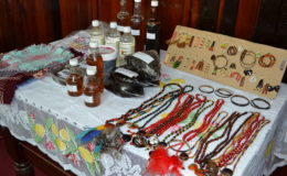 Items on display that were made by the participants of the Self Reliance and Success in Business Workshop. (Ministry of the Presidency photo)
