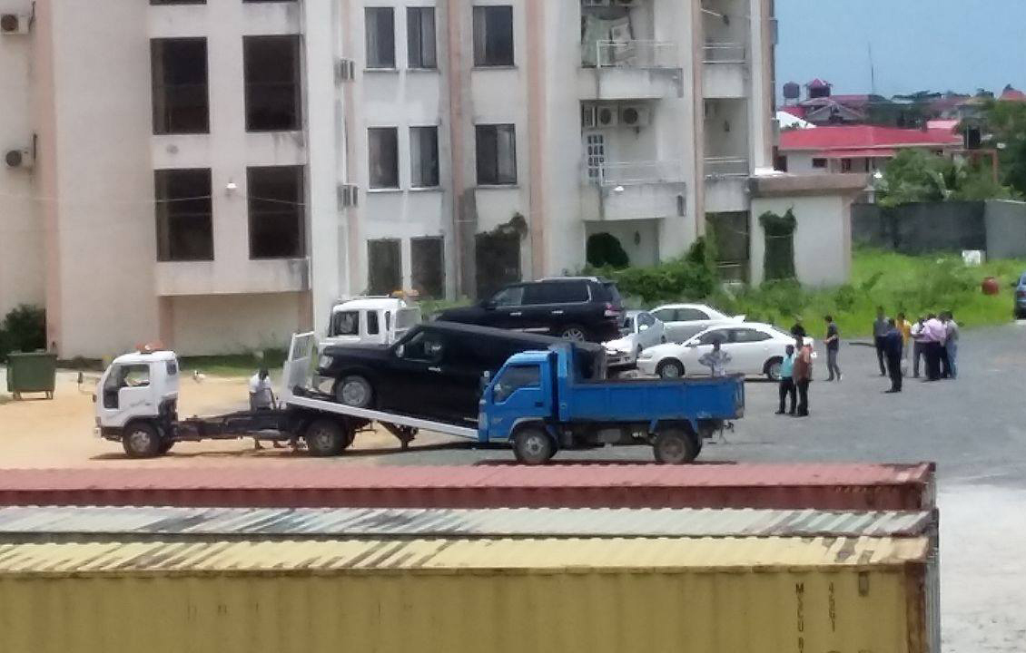 The GRA seizing Baishanlin vehicles earlier this year
