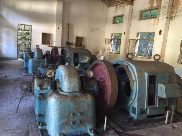Inside the old pump station