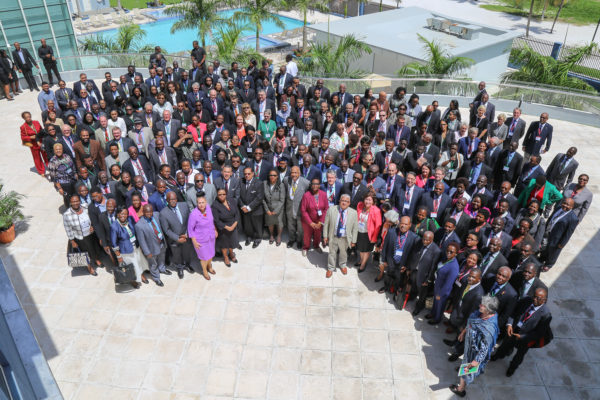Those in attendance at the opening of the Commonwealth Magistrates and Judges Association (CMJA) Conference yesterday. (Photo by Keno George)