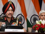 Director General Military Operations (DGMO), Ranbir Singh (left) at the press conferences along with External Affairs Spokesperson Vikas Swarup, in New Delhi on Thursday. PTI Photo