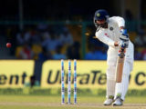 India's Mohammed Shami is bowled all ends up by New Zealand's Trent Boult in India's first innings. (Reuters photo)