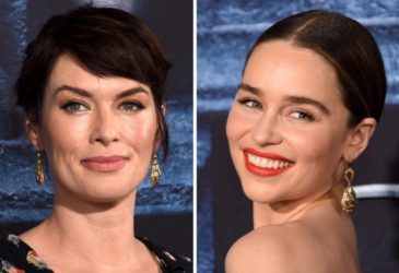 Cast members Lena Headey (L) and Emilia Clarke are shown in this combination photo at they attend the premiere for the sixth season of HBO's 'Game of Thrones' in Los Angeles April 10,, 2016. REUTERS/Phil McCarten/File Photos