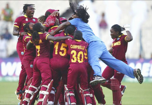 FLASHBACK! The West Indies Women cricket team celebrate their T20 World Cup final triumph against Australia earlier this year. The players are set to receive a big boost in compensation from the West Indies Cricket Board (WICB) following an increase in retainer contracts hammered out by the WICB and the West Indies Players Association.
