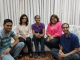 From left to right, members of the Gadget box team - Shivan Ramdhanie; Christin Parma; Cathy-Ann Radix; Lynda Sirju; Jeevan Persad