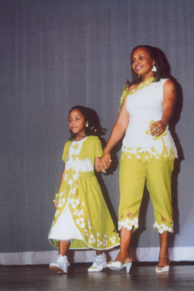 Aliya and her mother at the Mother and Daughter Pageant in 2011