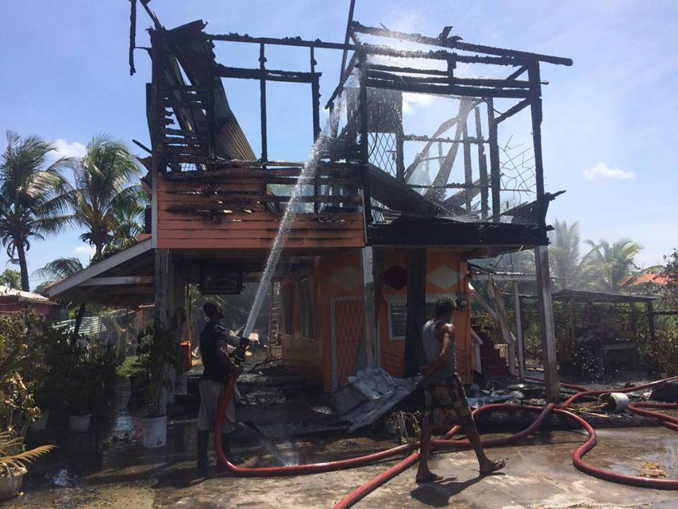 A Field Sophia House Goes Up In Flames Stabroek News
