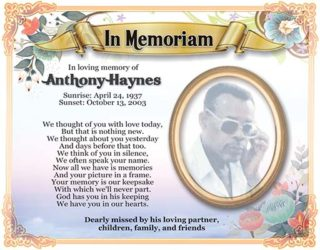 ANTHONY HAYNES