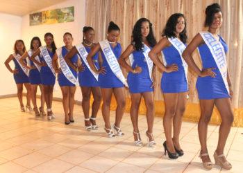 The nine contestants after the sashing