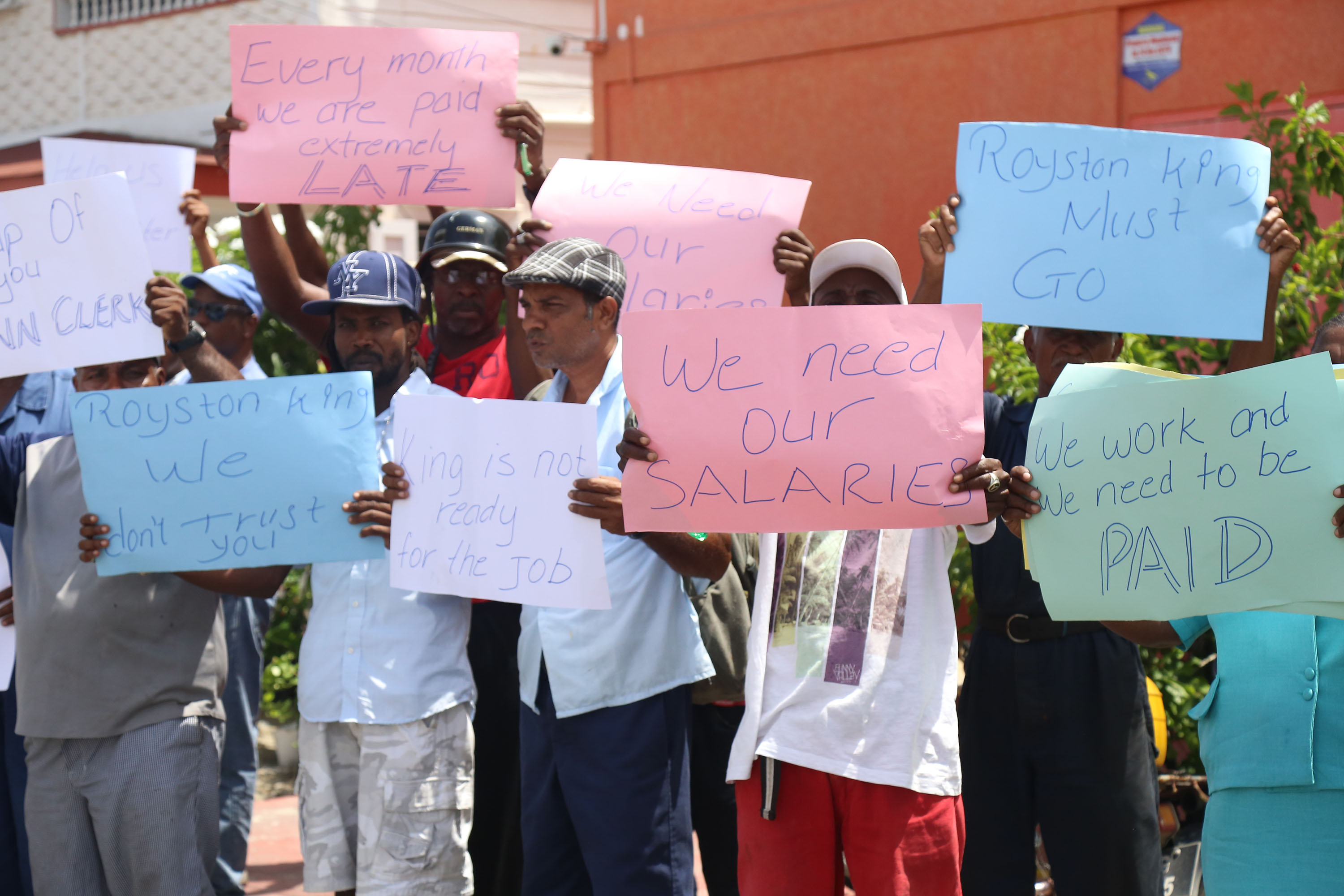 City Workers Protest For Kings Removal Over Delayed Salary Payments