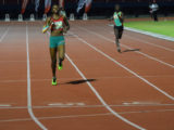 Avon Samuels made light work of the opposition in the girls 400m final last night at the National Track and Field Centre.