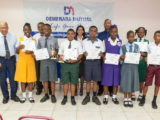 Demerara Mutual presented eight bursary awards to policyholders' children who were successful at the 2016 National Grade Six Assessment at its 19th Annual Bursary Award function which was held on October 17, 2016. Chairman of the Board of Directors, Richard B Fields made the presentation of bursaries valued at $11,000 each, according to a press release from Demerara Mutual. The Most Outstanding Student this year was Mark Bentick who was awarded a place at Bishops' High School and the Runner Up Student was  Azarya Willis  who was awarded a place at St Stanislaus College. The other bursary recipients were Princess Patterson, Kayla Mc Allister,            Daniel Seaford, Tiffiann Henry, Grace Browne and Shan Norton. These awardees will receive $11,000 per year for the next five years until they complete their secondary education.