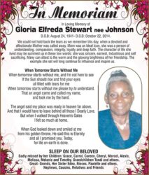 Gloria Stewart nee Johnson