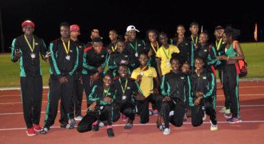 Inter Guiana Games track and field champions Team Guyana