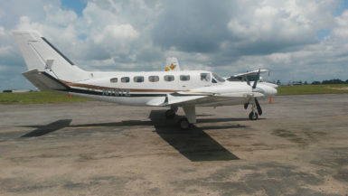 The plane, which was secured last month at the GDF Air Corps Hangar, Air Station London, at the Cheddi Jagan International Airport